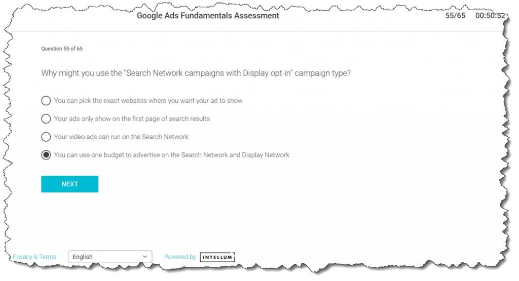 """Why might you use the """"Search Network campaigns with Display opt-in"""" campaign type?"""