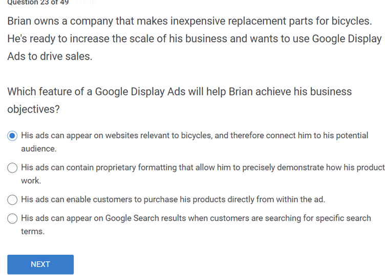 Brian owns a company that makes inexpensive replacement parts for bicycles