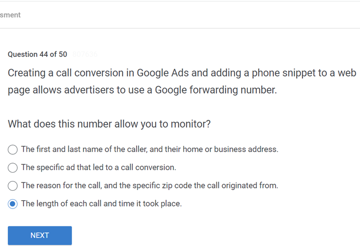 Creating a call conversion in Google Ads and adding a phone snippet to a web page allows advertisers to use a Google forwarding number