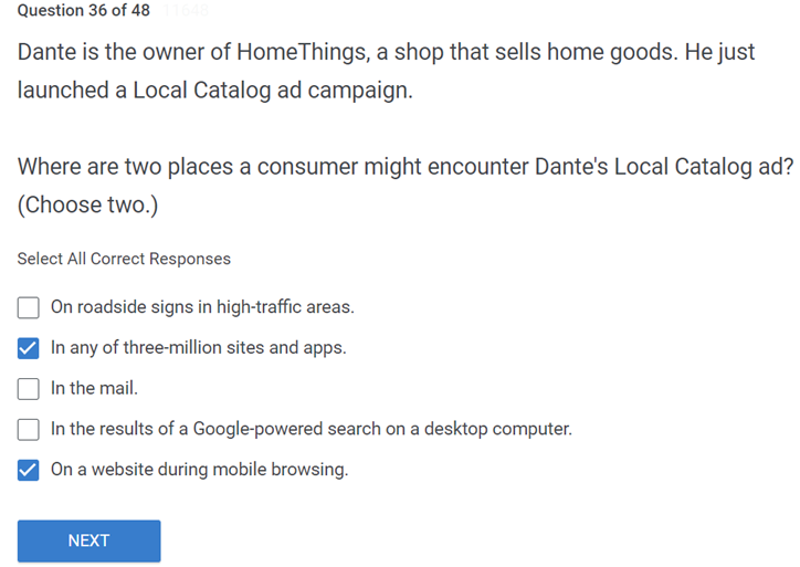 Dante is the owner of HomeThings a shop that sells home goods. He just launched a Local Catalog ad campaign