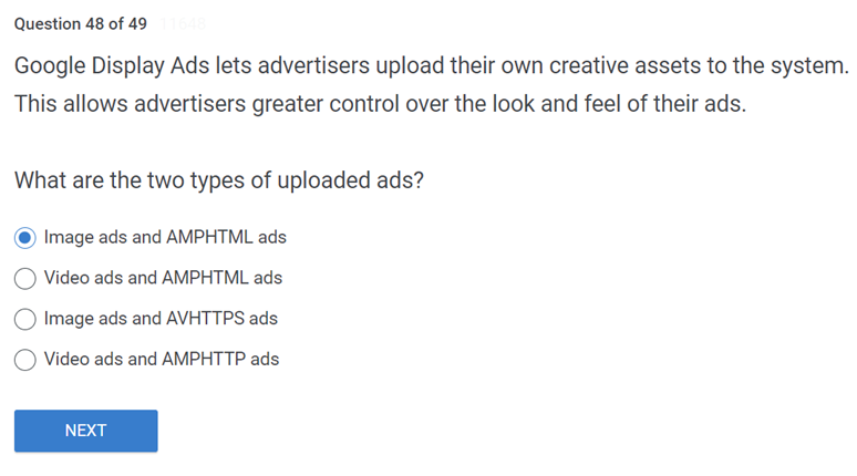 Google Display Ads lets advertisers upload their own creative assets to the system
