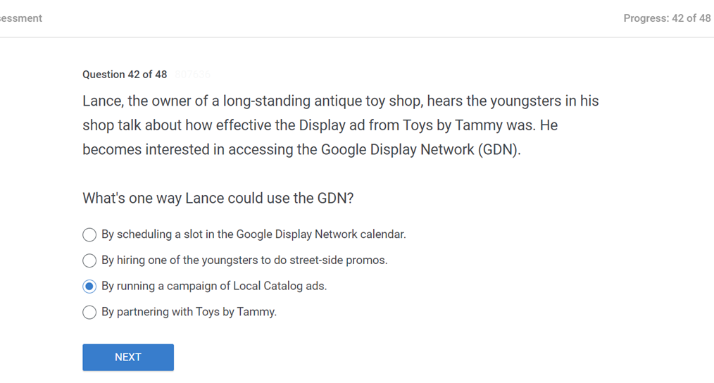 Lance the owner of a long standing antique toy shop hears the youngsters in his shop talk about how effective the Display ad from Toys by Tammy was