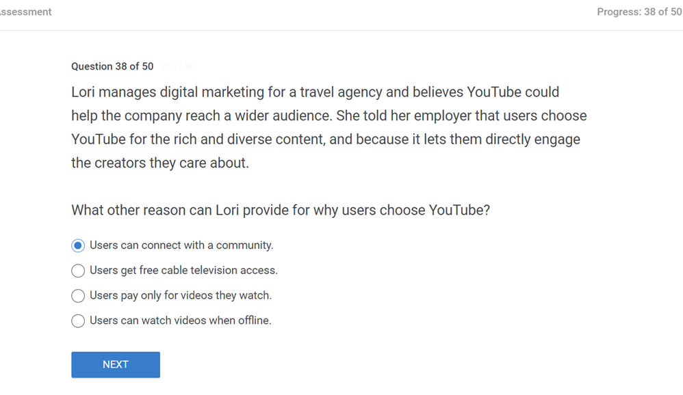 Lori manages digital marketing for a travel agency and believes YouTube could help the company reach a wider audience