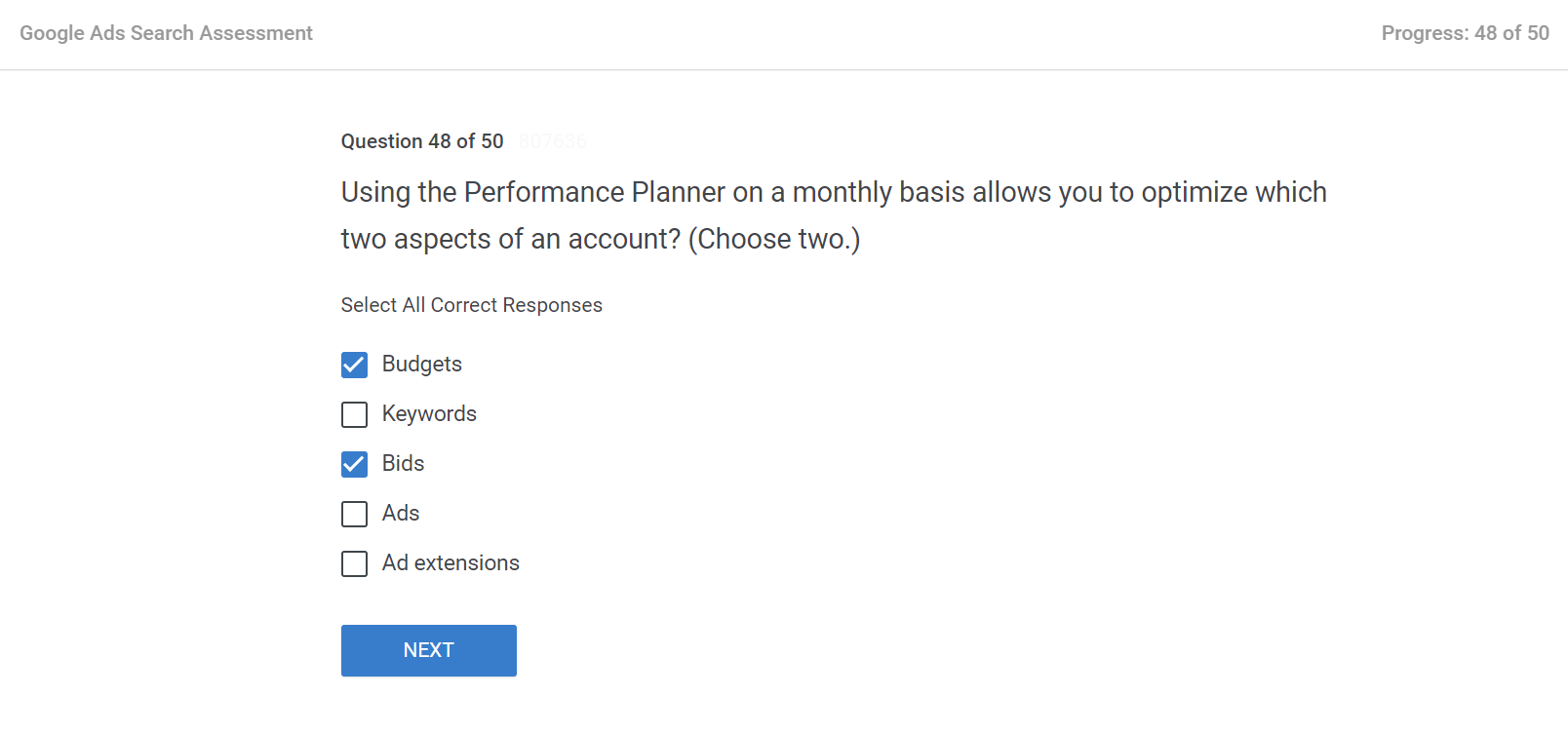Using the Performance Planner on a monthly basis allows you to optimize which two aspects of an account