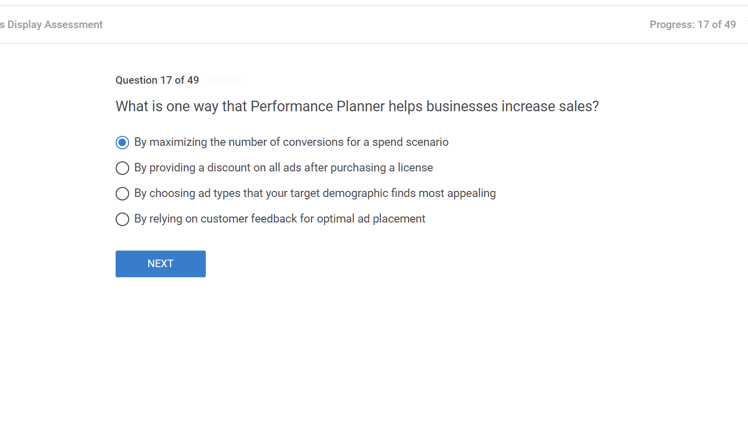 What is one way that Performance Planner helps businesses increase sales