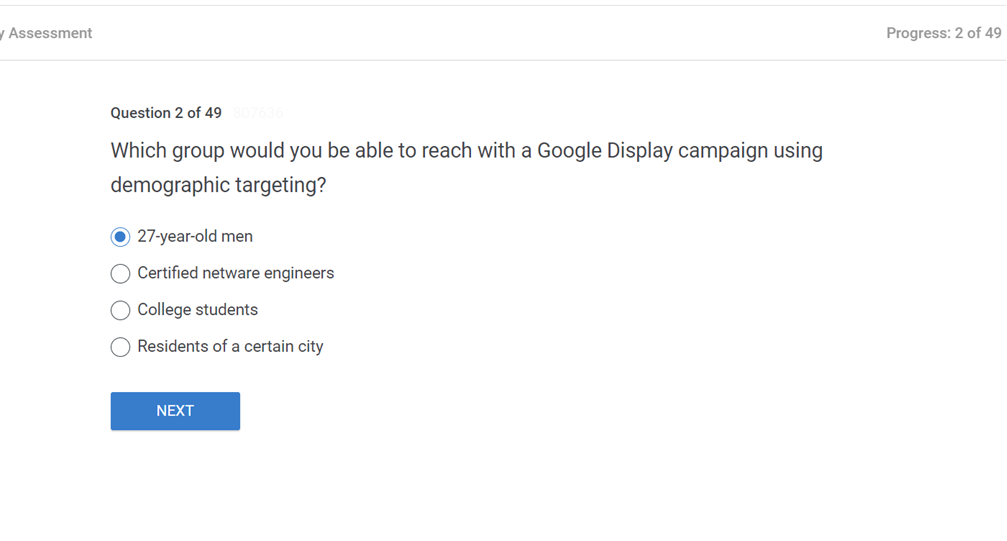 Which group would you be able to reach with a Google Display campaign using demographic targeting