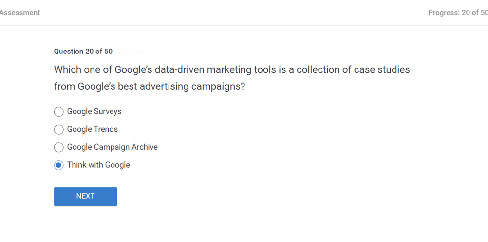Which one of Googles data driven marketing tools is a collection of case studies from Googles best advertising campaign