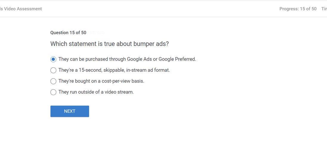 Which statement is true about bumper ads