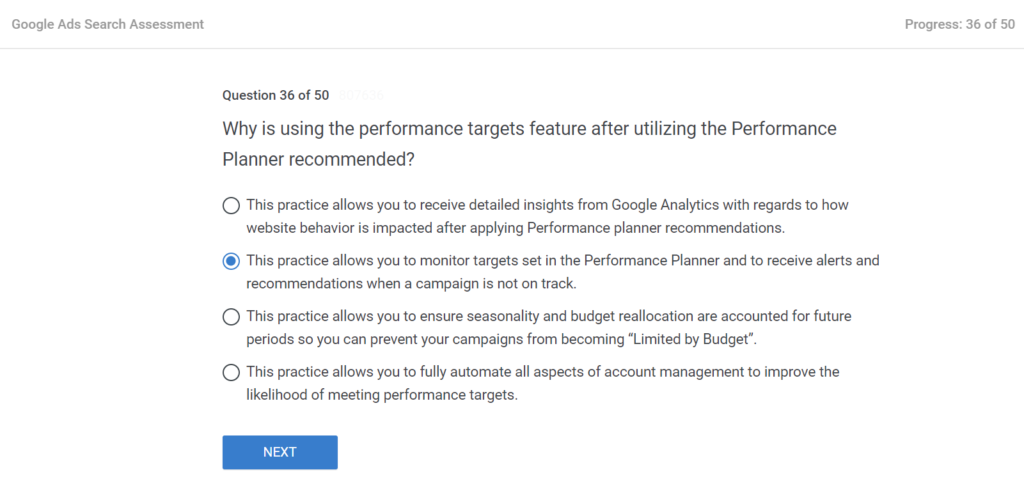 Why is using the performance targets feature after utilizing the Performance Planner recommended