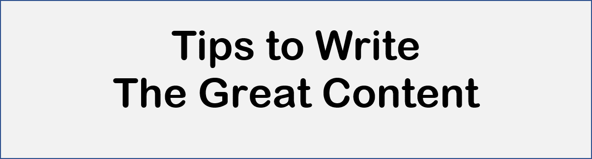 Tips to write SEO friendly great content